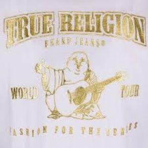 Mens true religion jeans 34 X 33 EUC White wash